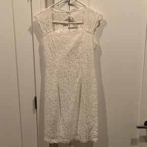 Pretty, lace white shirt dress